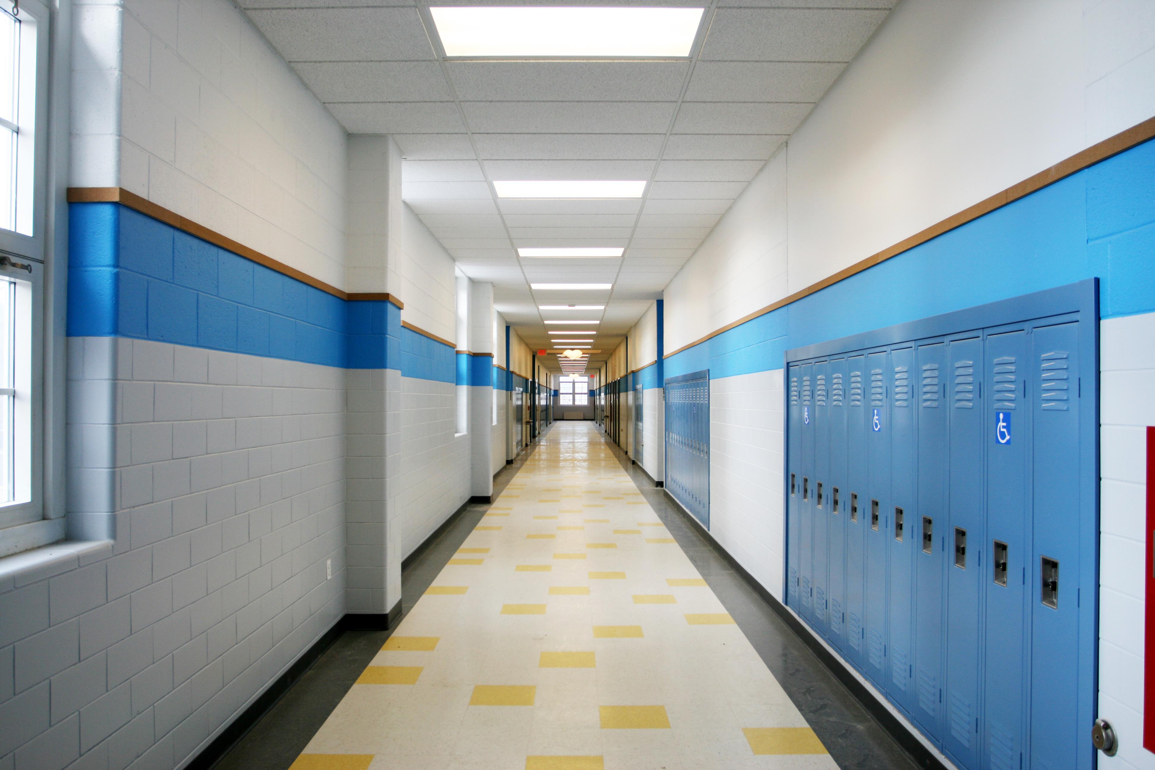 School Lockers Design Hallways Classic American Restaurant Interior